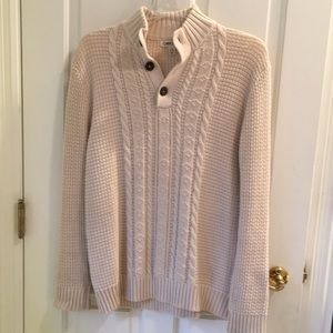 Cherokee soft cable knit long sleeve sweater